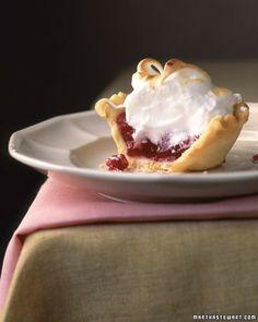 mini cranberry meringue pie