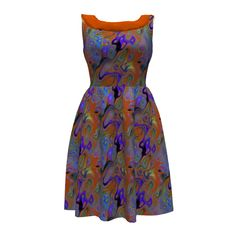 Colette Patterns Moneta Dress made with Spoonflower designs on Sprout Patterns. Abstrat Lianas and jungle flowers design. Orange burnt and purple. Jungle Flowers, Colette Patterns, Burnt Orange Dress, Web 2, Dress Robes, Flower Designs, Dress Making, Spoonflower, Sew
