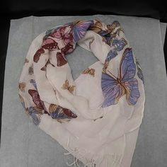 Cute scarf Buterflies all over cute colors light weight scarf Accessories Scarves & Wraps
