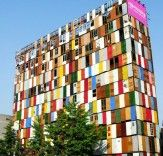 Choi Jeong-Hwa.    1000 Recycled Doors Transform the Facade of a 10-Story Building in Seoul | Inhabitat - Sustainable Design Innovation, Eco Architecture, Green Building