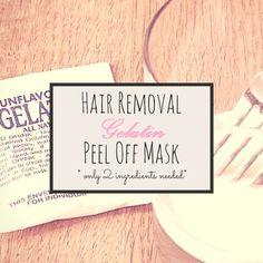 Gelatin Peel-Off Mask to Remove Facial Hair