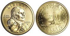 Sacagawea Dollar ~ Model: Randy'L He-dow Teton; Designer Glenna Goodacre.