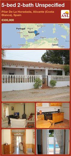 Unspecified for Sale in Pilar De La Horadada, Alicante (Costa Blanca), Spain with 5 bedrooms, 2 bathrooms - A Spanish Life Alicante, Casablanca, Portugal, Barcelona, Log Burner, Storage Area, Private Pool, Bungalow, Costa
