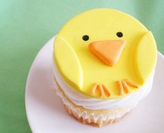 Fondant Cupcake Topper Easter Baby Chick