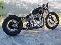 Bobber Inspiration | Triumph bobber motorcycle | Bobbers and Custom Motorcycles