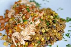 Chicken Corn Chili and Quinoa- good in tacos or with tortilla chips like nacos if you top with cheese- will make again
