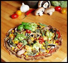 Die Cupcake Lady - Vegan, New & Creative Baking and Cooking: Rezept vom 19.07.2015: Vegane low-carb Pizza mit Blumenkohlboden
