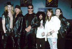 Guns N Roses with Arnold Schwarzenegger
