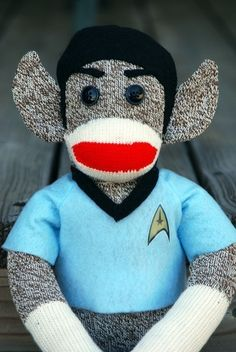 It might be illogical, but it's also sooo cute. Spock Monkey by The Sock Drawer.