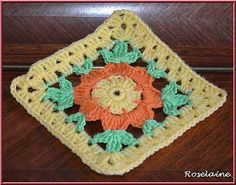"""Ravelry: Project Gallery for Blooming Granny - 12"""" Square pattern by Melinda Miller"""