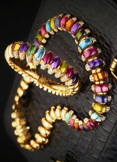 A diamond and gem-set 'Celtaura' necklace, by Bulgari