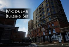 Game & Film - Building Set Modular by PurePolygons on Creative Market