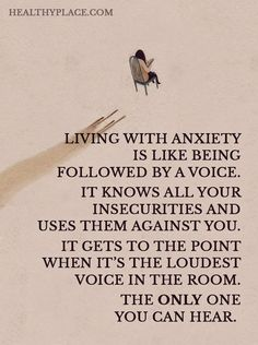 Quote on anxiety.