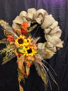Fall Burlap Wreath f38 by WilliamsFloral on Etsy.  GINA NEED THIS!!!