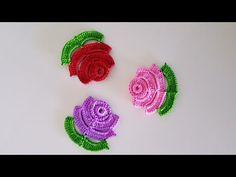 Gül Motifli Tığ Oyası Yapımı - YouTube Crochet Puff Flower, Crochet Flower Patterns, Crochet Flowers, Knitting Videos, Crochet Videos, Felt Crafts, Diy And Crafts, Creative Embroidery, Tissue Paper Flowers