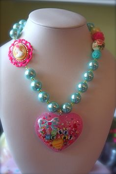 Adore Me Sweetheart Cameo Sprinkle, Candy, Glitter Resin Necklace by athinalabella1, via Flickr