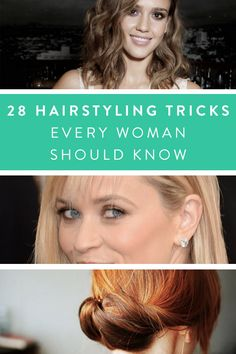 28 Hairstyling Tricks Every Woman Should Know via @PureWow