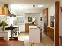 Garden House - contemporary - kitchen - philadelphia - Wyant Architecture. too modern, but nice mix of colors.