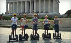 This is awesome fun.... and a great deal.... Groupon - $29 for a 2.5-Hour Guided Segway Tour from Bike and Roll ($59 Value) in Washington (Federal Triangle). Groupon deal price: $29.00