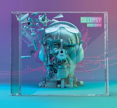 CD cover design in purple and blue
