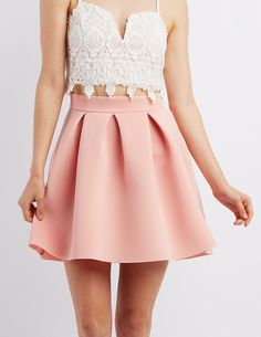 Pleated Scuba Skirt | Charlotte Russe