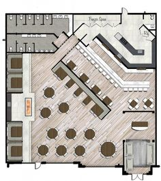 restaurant and cafe floor plan Restaurant Layout, Restaurant Floor Plan, Restaurant Counter, Deco Restaurant, Restaurant Seating, Restaurant Ideas, Cafe Seating, Image Restaurant, Coffee Shop Design