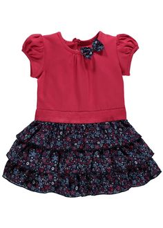 Girls Jersey Top and Ruffle Skirt Set (3mths-5yrs) - Matalan £8