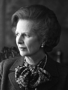 Margaret Thatcher in Downing Street in 1984