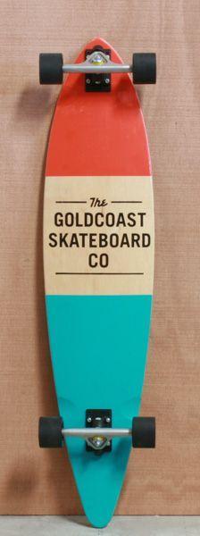 "GoldCoast 44"" Standard Orange Longboard   Complete  WANT!!!!!! :)"