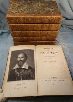 Memoires du Duc de Sully 1822 Nouvelle Edition Henry IV 6 Vol Catherine St Aubyn