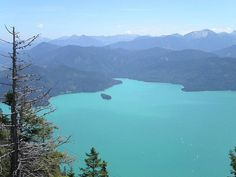Walchensee or Lake Walchen is one of the deepest and largest alpine lakes in Germany, with a maximum depth of 192.3 metres (631 ft) and an area of 16.4 square kilometres (6.3 sq mi).