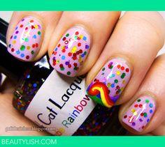 Rainbow nails | Shannon J.'s (polishrainbow) Photo | Beautylish