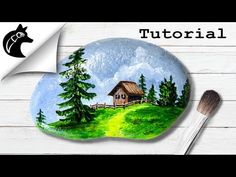 Rock Painting Tutorial For Beginners Landscape - YouTube