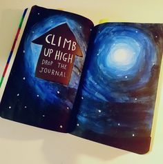 Wreck this journal, climb up high drop the journal.