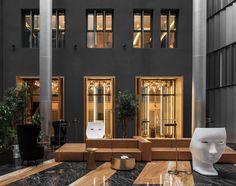 Gamma hotel on Behance Lobby Lounge, Hotel Lobby, Hotel Corridor, Public Hotel, Hotel Apartment, Hotel Interiors, Interior Photography, Reception Areas, Store Design