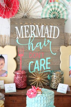 How to make this cute mermaid sign. Didn\'t even have to make the ...