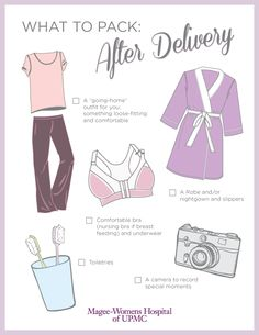 Moms-to-be -- get your go-bag ready! Make sure you pack everything you'll need for the postpartum period. You can print this handy checklist or pin it for later.