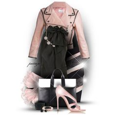 All Tied Up by rockreborn on Polyvore featuring Balmain, RED Valentino, Casadei, 3.1 Phillip Lim, Kate Spade, scarf, pinkandblack and polyvoreeditorial