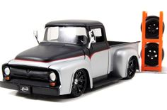 """Jada Toys """"Just Trucks"""" Diecast Model No. 54027 Find out about the '56 Ford F-100 pickup truck here."""