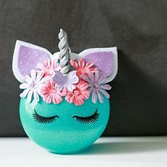 DIY unicorn christmas ornament.