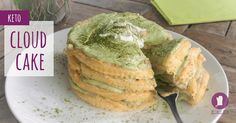 I'm offering you one of the simplest keto recipes: Keto Cloud Cake. The combination of any type of dairy and matcha is a perfect match.