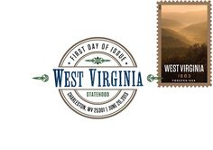 Like the state it honors, the West Virginia Statehood digital color postmark is a beaut!