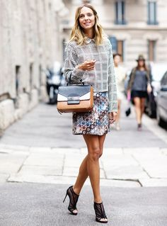 Expert pattern-mixing at Milan Fashion Week // Photo: The Styleograph #MFW #streetstyle