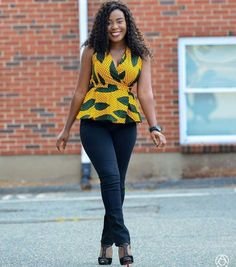 Ankara tops give a figure that blends through all the curves of your body and a confidence boost that gives you that satisfactory feeling.
