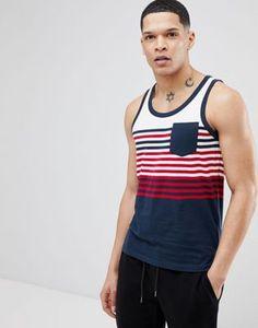 Brave Soul Solid Top Vest With Stripes