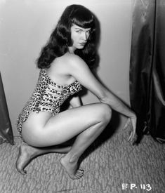 Bettie Page - leopard-tarzan-costume http://pt.wikipedia.org/wiki/Bettie_Page