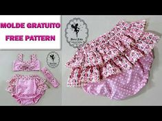 MOLDE GRÁTIS Bata para Bebê e Calcinha Bunda Rica | Artesanato Passo-a-Passo - YouTube Baby Girl Frocks, Frocks For Girls, Kids Frocks, Baby Knitting Patterns, Easy Sewing Patterns, Sewing Baby Clothes, Baby Sewing, Baby Pageant Dresses, Kurti With Jeans