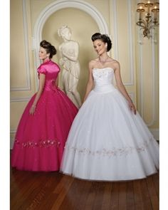 White Ball Gown Strapless Bandage Floor Length Quinceanera Dresses With Embroidery and Sequined