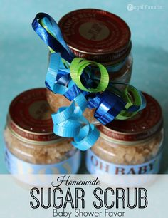 Baby Shower Favors: Homemade Sugar Scrub - Frugal Fanatic