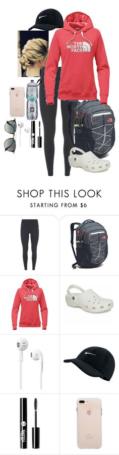 """""""The North Face"""" by nknudson-04 on Polyvore featuring NIKE, The North Face, Crocs, Charlotte Russe and Ray-Ban"""